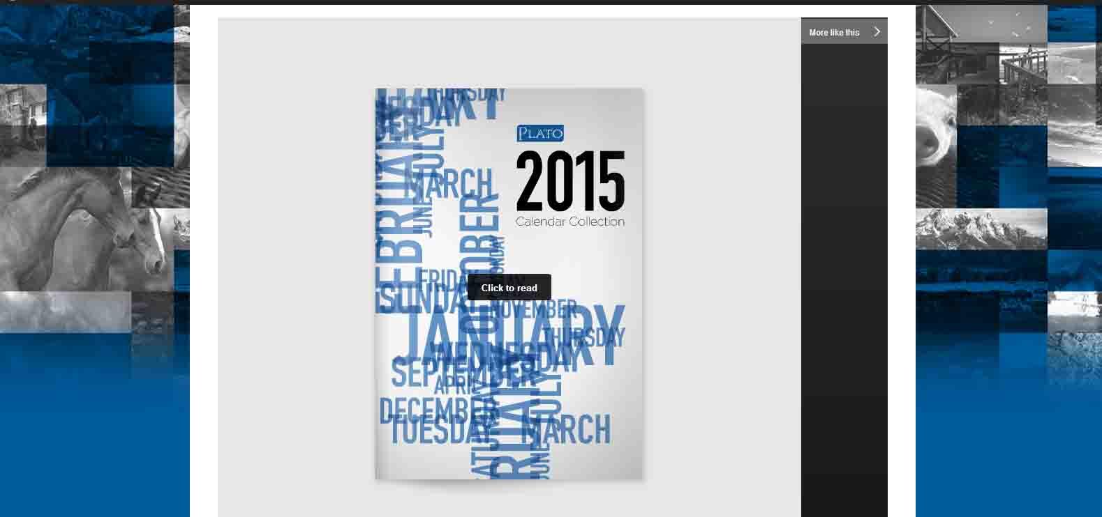 2015 Plato Calendars Catalog Link to Catalog