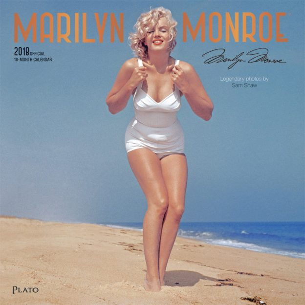 Marilyn Monroe 2018 Square Wall Calendar Front Cover - Plato Calendars All Rights Reserved
