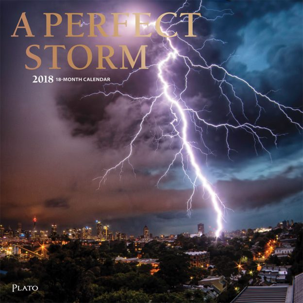 A Perfect Storm 2018 Square Wall Calendar Front Cover - Plato Calendars All Rights Reserved