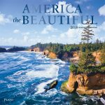 America the Beautiful 2018 Square Wall Calendar Front Cover - Plato Calendars All Rights Reserved