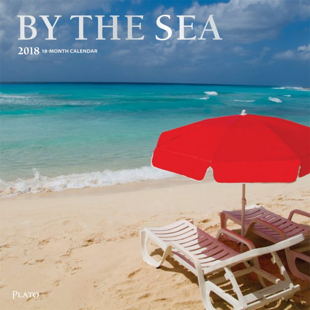 By the Sea 2018 Square Wall Calendar Front Cover - Plato Calendars All Rights Reserved