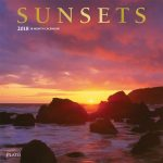 Sunsets 2018 Square Wall Calendar Front Cover - Plato Calendars All Rights Reserved