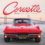 Corvette 2018 Square Wall Calendar Front Cover - Plato Calendars All Rights Reserved