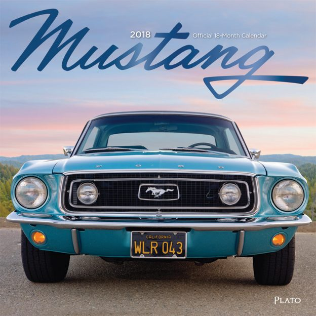 Mustang 2018 Square Wall Calendar Front Cover - Plato Calendars All Rights Reserved