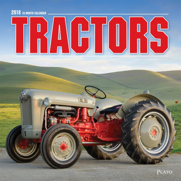 Tractors 2018 Square Wall Calendar Front Cover - Plato Calendars All Rights Reserved