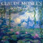 Claude Monet's Water Lilies 2018 Square Wall Calendar Front Cover - Plato Calendars All Rights Reserved