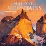 Majestic Mountains 2018 Square Wall Calendar Front Cover - Plato Calendars All Rights Reserved