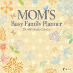 Mom's Busy Family Planner 2018 Square Wall Calendar Front Cover - Plato Calendars All Rights Reserved