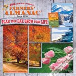 Farmers' Almanac 2018 Square Wall Calendar Front Cover - Plato Calendars All Rights Reserved