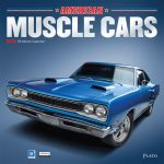 Muscle Cars 2018 Square Wall Calendar Front Cover - Plato Calendars All Rights Reserved