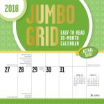 Jumbo Grid 2018 Square Wall Calendar Front Cover - Plato Calendars All Rights Reserved