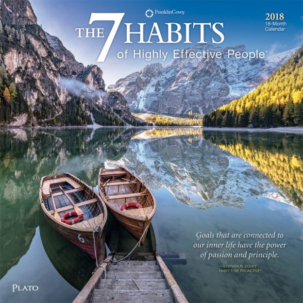 7 (Seven) Habits of Highly Effective People by Stephen R. Covey‎ 2018 Square Wall Calendar Front Cover - Plato Calendars All Rights Reserved