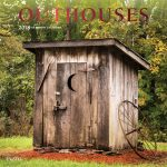 Outhouses 2018 Square Wall Calendar Front Cover - Plato Calendars All Rights Reserved