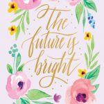 The Future is Bright 2018 Two-Year Pocket Planner Calendar Front Cover - Plato Calendars All Rights Reserved
