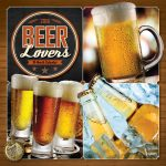 Beer Lovers 2018 Square Wall Calendar Front Cover - Plato Calendars All Rights Reserved