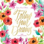 Follow Your Dreams 2018 Square Wall Calendar Front Cover - Plato Calendars All Rights Reserved