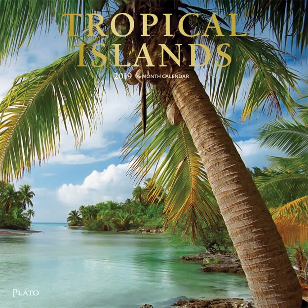 Tropical Islands 2019 12 x 12 Inch Monthly Square Wall Calendar with Foil Stamped Cover by Plato, Scenic Travel Tropical Photography