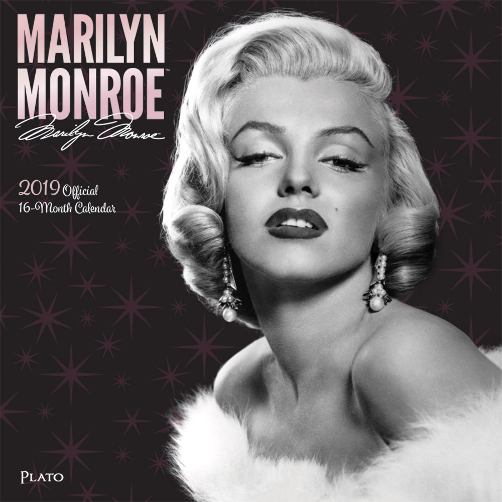Marilyn Monroe 2019 12 x 12 Inch Monthly Square Wall Calendar with Foil Stamped Cover by Plato, USA American Actress Celebrity