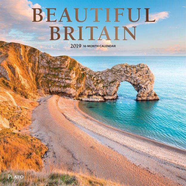 Beautiful Britain 2019 12 x 12 Inch Monthly Square Wall Calendar by Plato, United Kingdom Scenic Nature Photography