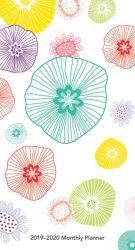 Vintage Blooms 2019 3.5 x 6.5 Inch Two Year Monthly Pocket Planner, Flower Art Artwork Design