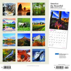 America the Beautiful 2020 12 x 12 Inch Monthly Square Wall Calendar with Foil Stamped Cover by Plato, USA United States Scenic Nature