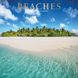 Beaches 2020 12 x 12 Inch Monthly Square Wall Calendar with Foil Stamped Cover by Plato, Travel Nature Tropical