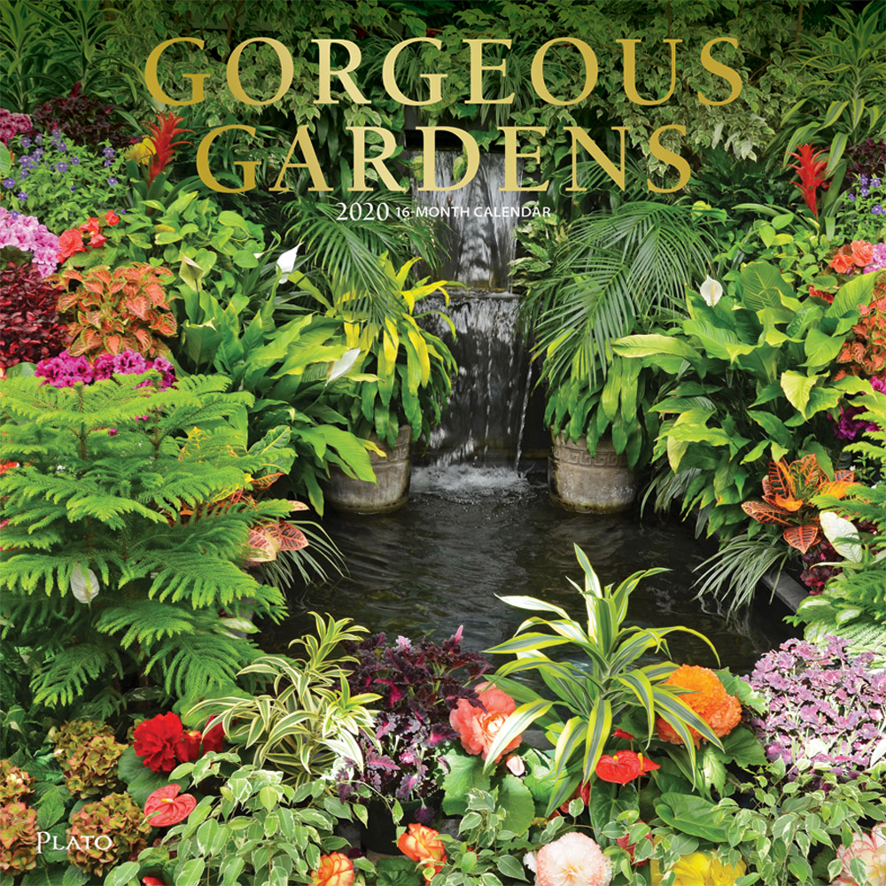 Gorgeous Gardens 2020 12 x 12 Inch Monthly Square Wall Calendar with Foil Stamped Cover by Plato, Gardening Outdoor Home Country Nature