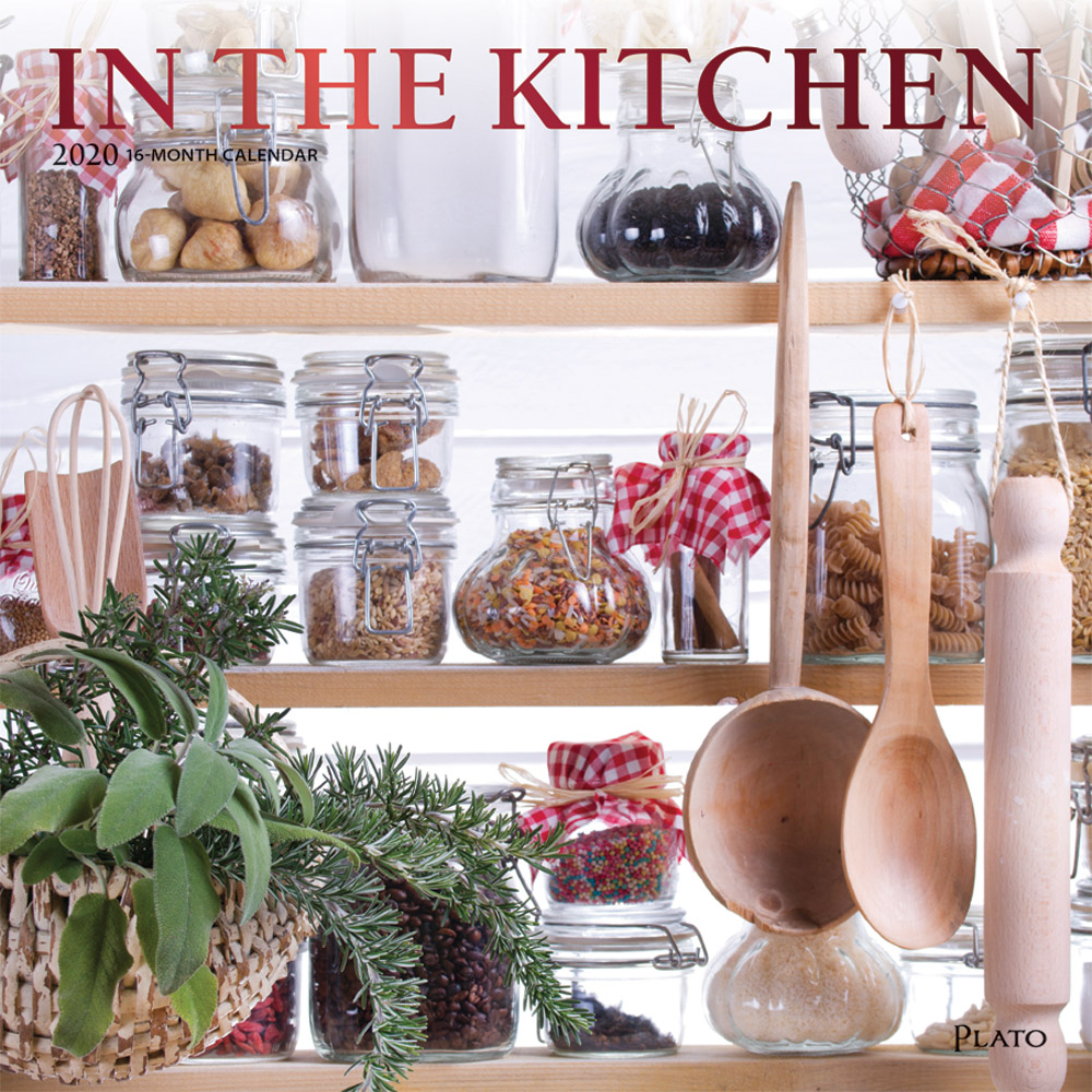 In the Kitchen 2020 12 x 12 Inch Monthly Square Wall Calendar with Foil Stamped Cover by Plato, Home Cooking Food