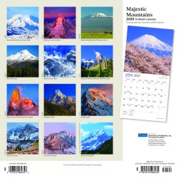 Majestic Mountains 2020 12 x 12 Inch Monthly Square Wall Calendar with Foil Stamped Cover by Plato, Scenic Nature Photography