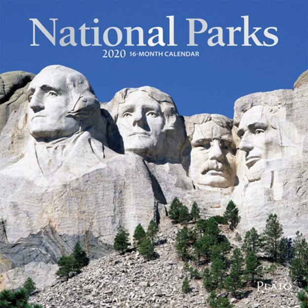 National Parks 2020 7 x 7 Inch Monthly Mini Wall Calendar with Foil Stamped Cover by Plato, USA United States of America Scenic Nature