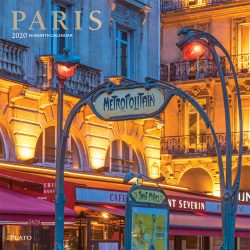Paris 2020 12 x 12 Inch Monthly Square Wall Calendar with Foil Stamped Cover by Plato, Scenic Travel Europe France