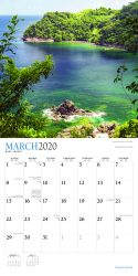 Tropical Islands 2020 12 x 12 Inch Monthly Square Wall Calendar with Foil Stamped Cover by Plato, Scenic Travel Tropical Photography