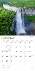 Waterfalls 2020 12 x 12 Inch Monthly Square Wall Calendar with Foil Stamped Cover by Plato, Nature Waterfall