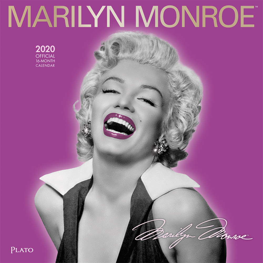 Marilyn Monroe 2020 12 x 12 Inch Monthly Square Wall Calendar with Foil Stamped Cover by Plato, USA American Actress Celebrity