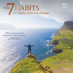 The 7 Habits of Highly Effective People 2020 12 x 12 Inch Monthly Square Wall Calendar with Foil Stamped Cover by Plato, Self Help Improvement