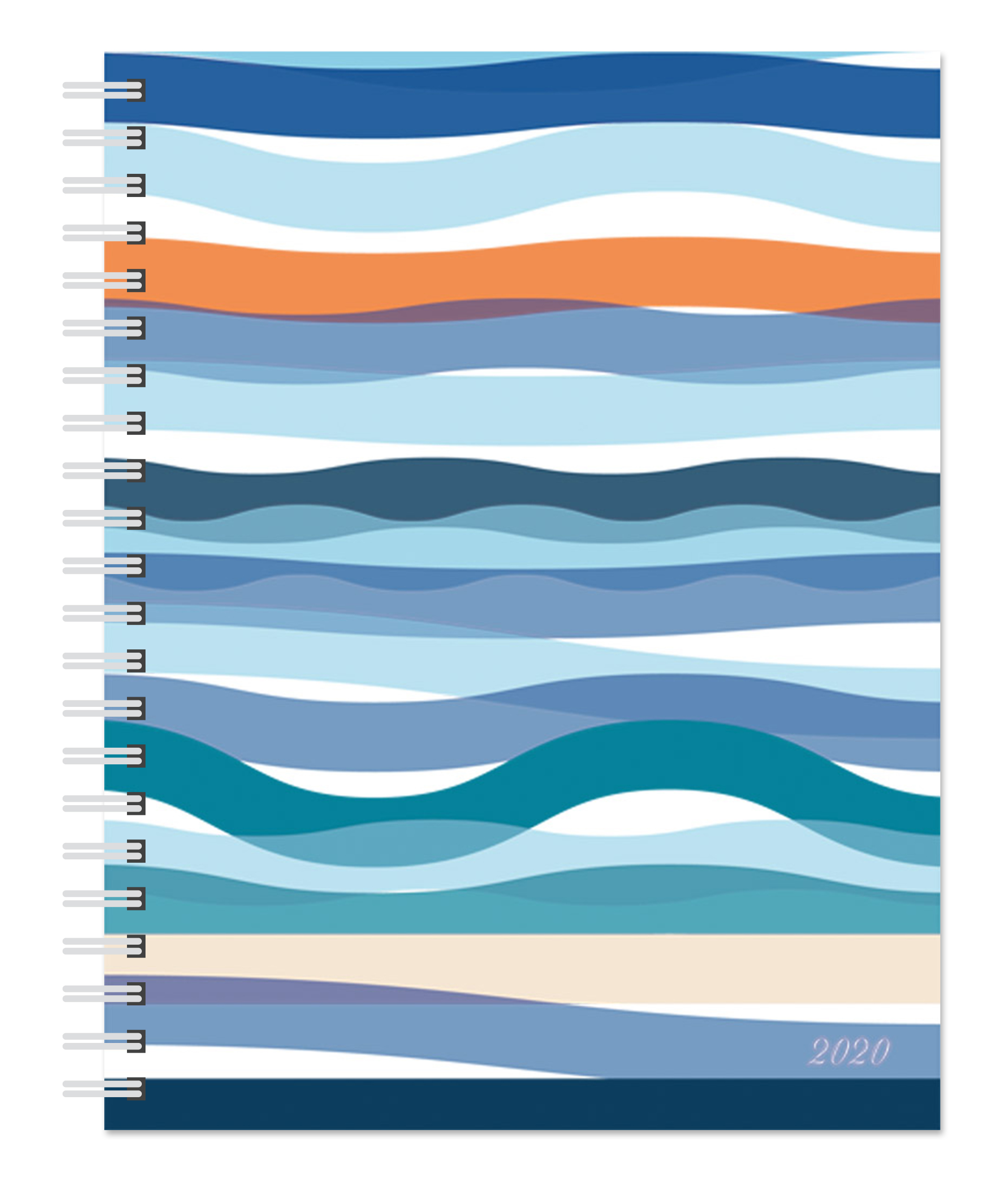 Seaside Currents 2020 6 x 7.75 Inch Weekly Desk Planner by Plato, Planning Stationery