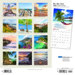 By the Sea 2020 12 x 12 Inch Monthly Square Wall Calendar with Foil Stamped Cover by Plato, Waves Sun Clear Blue Sky