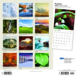 Psalms 2020 12 x 12 Inch Monthly Square Wall Calendar with Foil Stamped Cover by Plato, Religion Hymns Lord