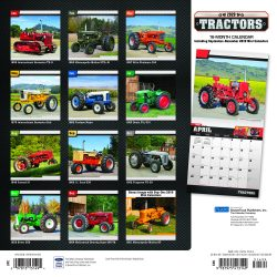 Tractors 2020 12 x 12 Inch Monthly Square Wall Calendar with Foil Stamped Cover by Plato, Farm Rural Country