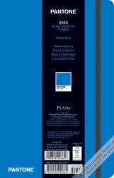 Pantone™ 2020 5.25 x 8.25 Inch Fashion Planner Compact Weekly from Plato™ Noble Blue