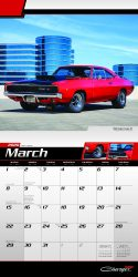 Dodge Charger 2020 12 x 12 Inch Monthly Square Wall Calendar with Foil Stamped Cover by Plato, American Muscle Motor Car