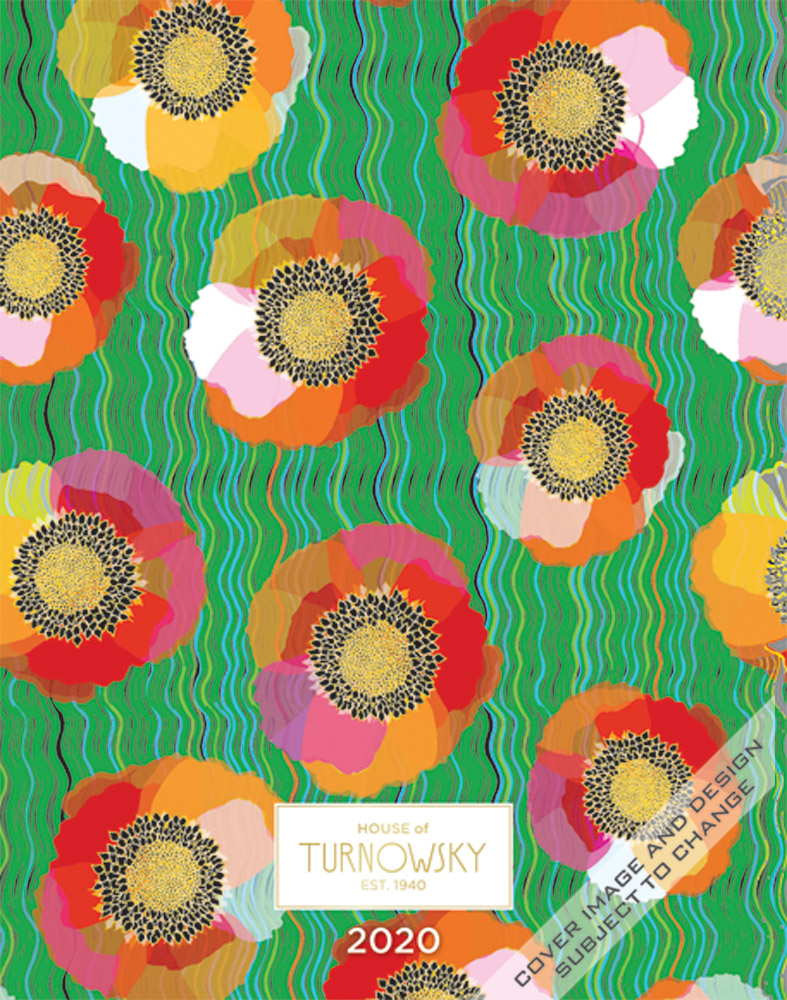 House of Turnowsky Flowers of Grace 2020 6 x 7.75 Inch Weekly Desk Planner by Plato, Stationery Elegant Exclusive Gardens Floral