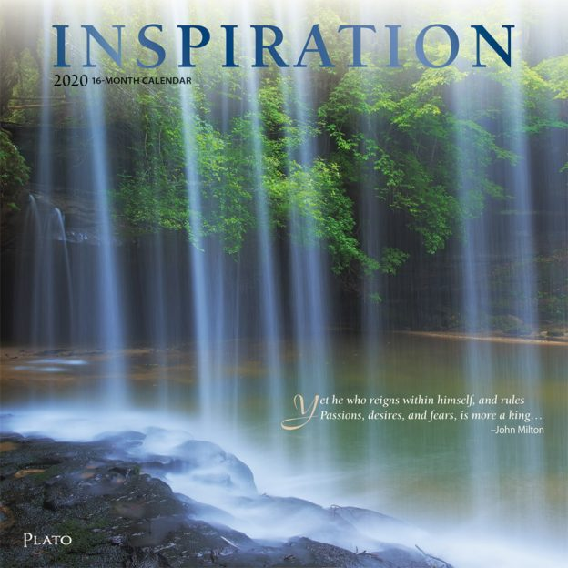 Inspiration 2020 12 x 12 Inch Monthly Square Wall Calendar with Foil Stamped Cover by Plato, Inspiration Motivation Quotes