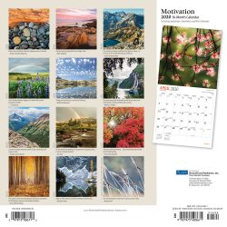 Motivation 2020 12 x 12 Inch Monthly Square Wall Calendar with Foil Stamped Cover by Plato, Motivation Inspiration Quotes