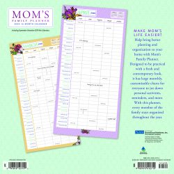 Mom's Family Planner 2020 12 x 12 Inch Monthly Square Wall Calendar with Foil Stamped Cover by Plato, Planning Organization Family
