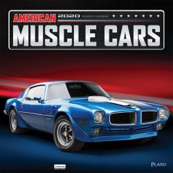 American Muscle Cars 2020 12 x 12 Inch Monthly Square Wall Calendar with Foil Stamped Cover by Plato, USA Motor Ford Chevrolet Chrysler Oldsmobile Pontiac