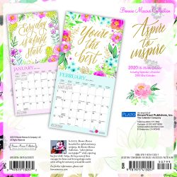 Bonnie Marcus 2020 7 x 7 Inch Monthly Mini Wall Calendar with Foil Stamped Cover by Plato, Fashion Designer Stationery