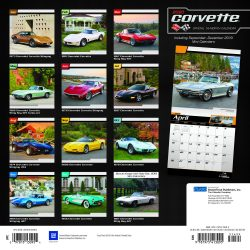 Corvette 2020 12 x 12 Inch Monthly Square Wall Calendar with Foil Stamped Cover by Plato, Chevrolet Motor Muscle Car