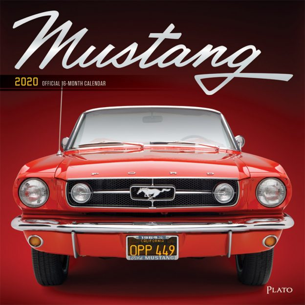 Mustang 2020 12 x 12 Inch Monthly Square Wall Calendar with Foil Stamped Cover by Plato, Ford Motor Muscle Car
