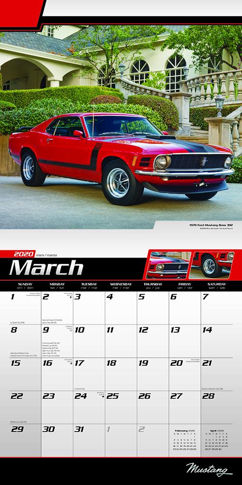 Mustang 2020 Square Wall Calendar by Plato | Plato Calendars
